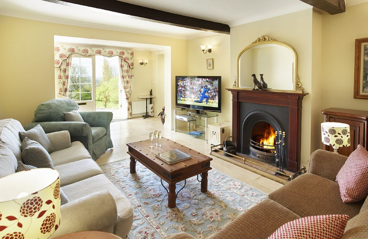 Ground floor:  Second sitting room with open log fire
