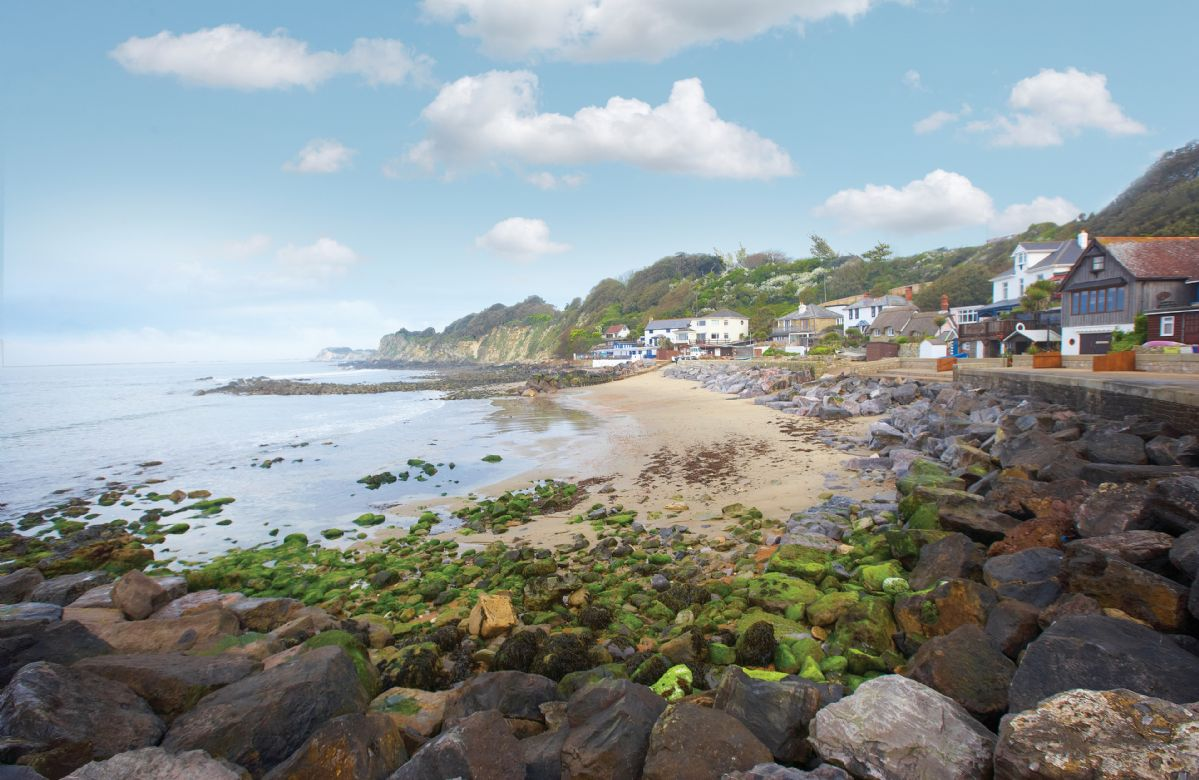 The secluded Steephill Cove is a five minute stroll away