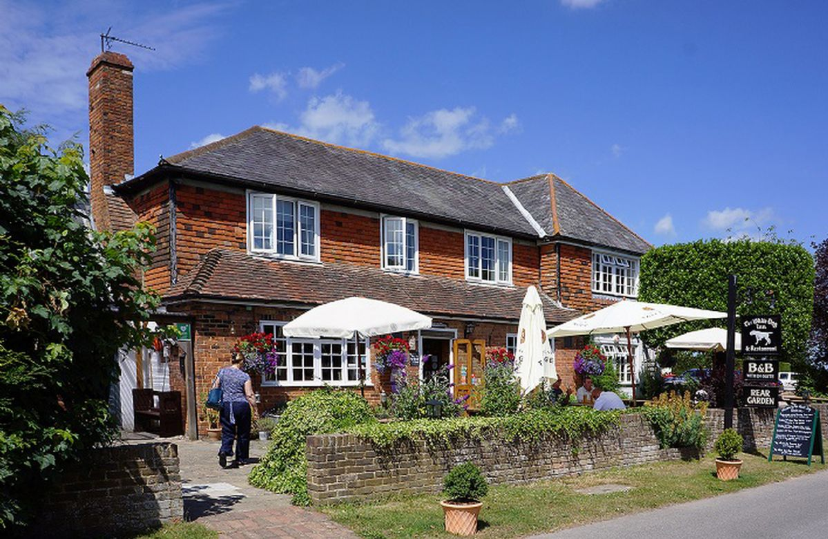 The beautiful village of Ewhurst Green is approximately a mile by road or three-quarters of a mile by footpath, and is host to the village pub is The White Dog Inn