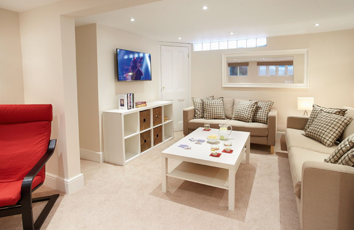 Basement:  TV and games room