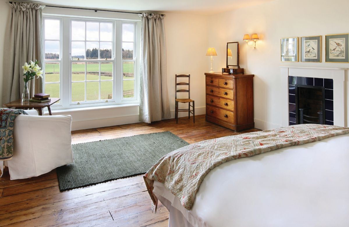First floor: Double bedroom with zip and link bed which can be converted to two 3' single beds on request