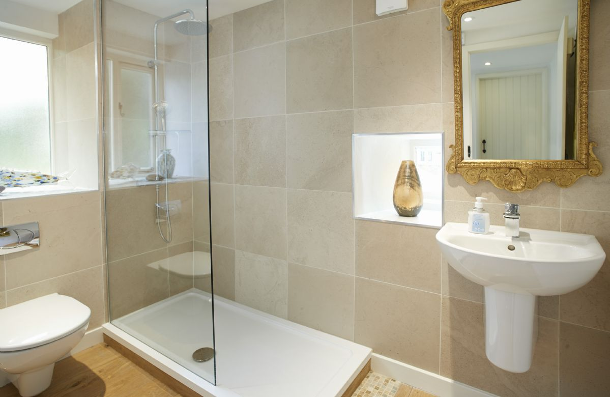 First floor: Dufton and Murton share a bathroom with rainfall shower