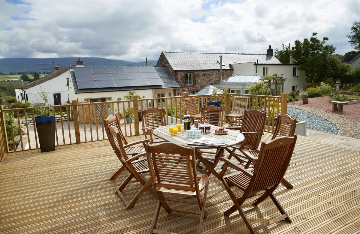 A raised deck at the back of the house provides unparalleled views of the Cumbrian landscape
