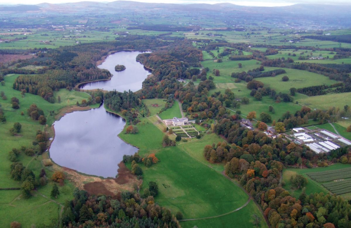 Aerial view of Baronscourt Estate