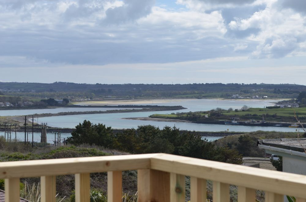 View from the balcony looking at Hayle estuary