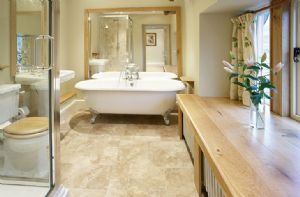 Second Floor: The Nursery en-suite bathroom with bath and separate shower