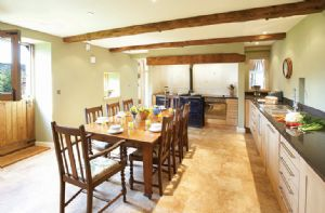 Ground floor: Large breakfasting kitchen with four oven Aga