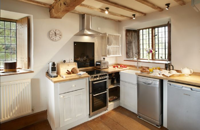 First floor: Kitchen with views on to open countryside