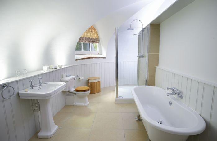 Lower ground floor:  Bathroom with walk in shower