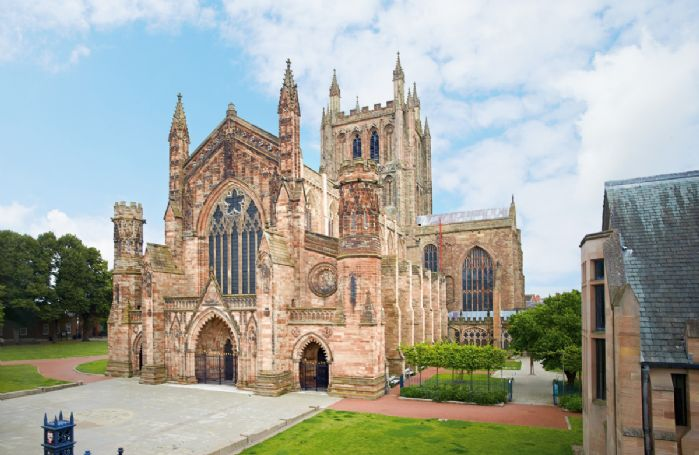 Hereford Cathedral, home of the Mappa Mundai is fifteen miles from the property