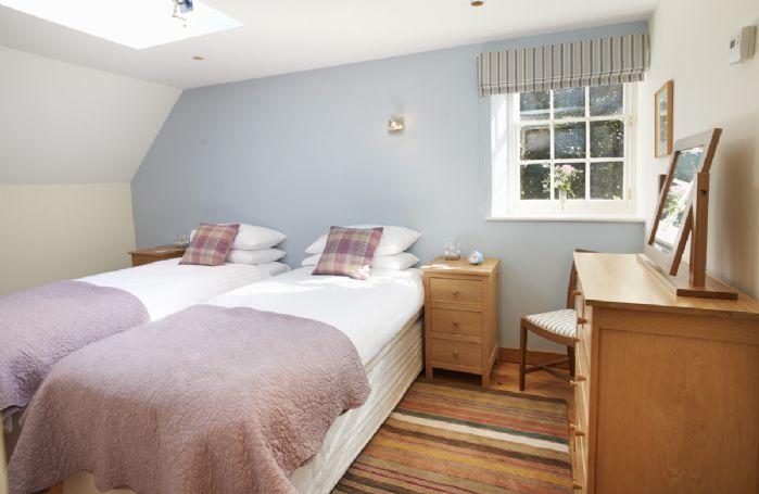 First floor: Twin bedroom with 3' zip and link beds