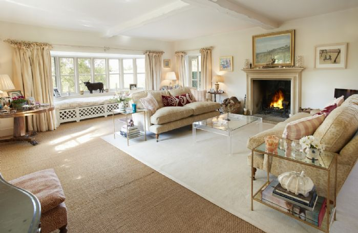 Ground floor: Drawing room with open fireplace