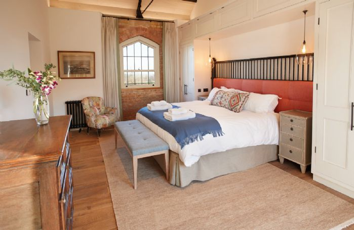 Exeter Wing: Bedroom one with 6' super king size bed