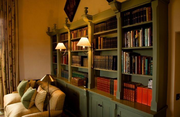 First floor: The Library lies adjacent to the Great Hall and is a cosy snug with flat screen TV and private bar
