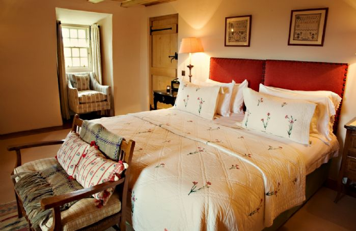Third floor: The Erskine Suite offers a super king-size bed which can convert to two single beds, complete with a small double redassier bench at the foot