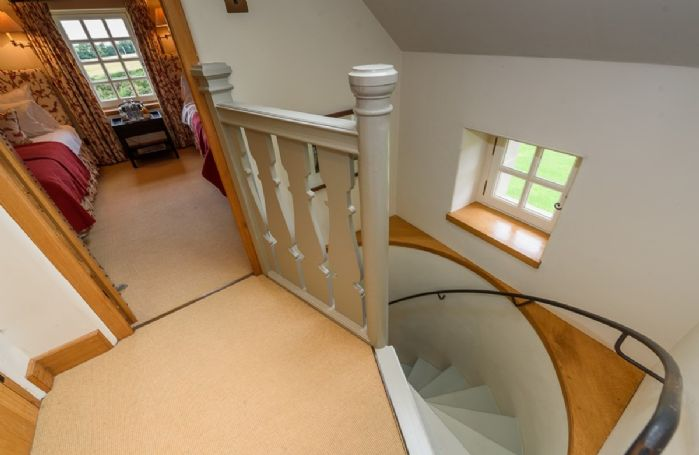First floor: Seton is a twin room situated privately up its own spiral staircase with views to the north