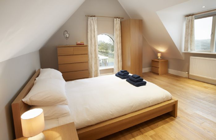 First floor: Bedroom Three has a double bed and en-suite shower room