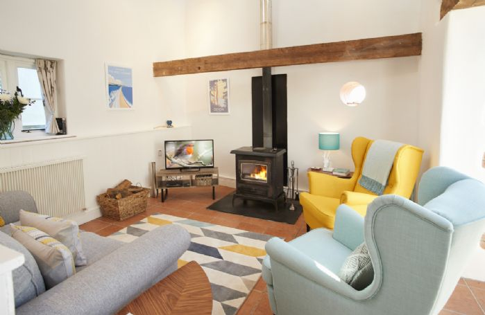 Ground floor: Sitting area with wood burning stove