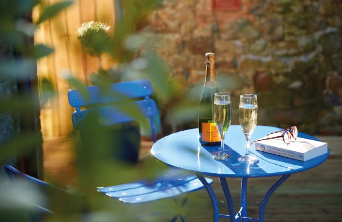 Relax with a celebratory glass of fizz