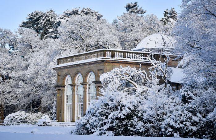 A snowy Temple