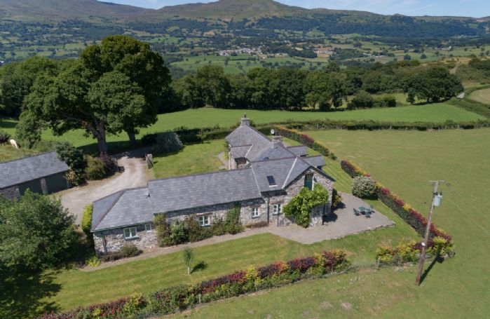 Ty Newydd occupying a prominent position with breath-taking views over the Conwy estuary