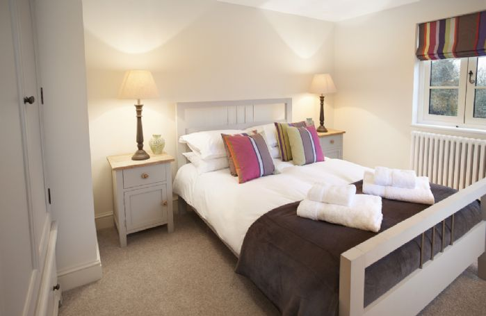 First floor: Second bedroom with 4'6 double bed and dual aspect windows