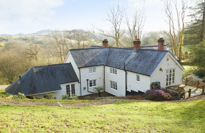 Slowpool's elevated position affords wonderful views of the Devon countryside