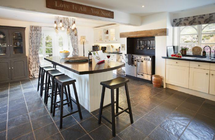 Ground floor: Kitchen/breakfast room with island unit seating eight