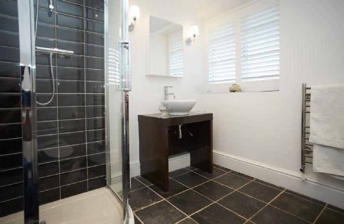Ground floor: The Bluebell bedroom's en-suite shower room