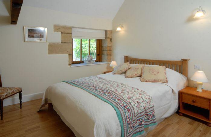 Ground floor: Master bedroom with double bed