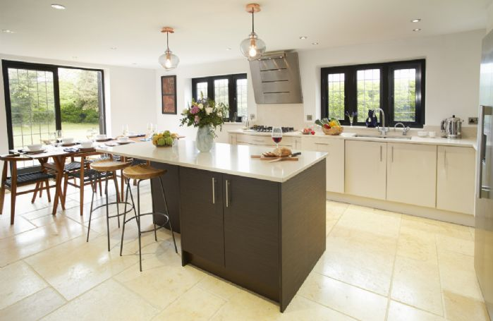 Ground floor: High spec kitchen with dining table for eight