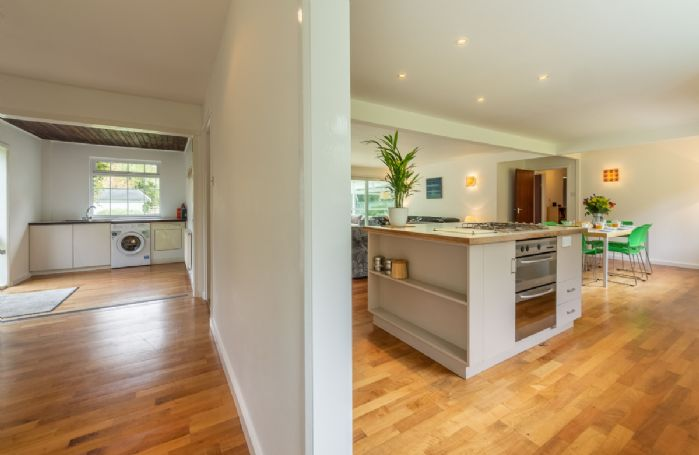 Ground floor: Spacious kitchen with dining area