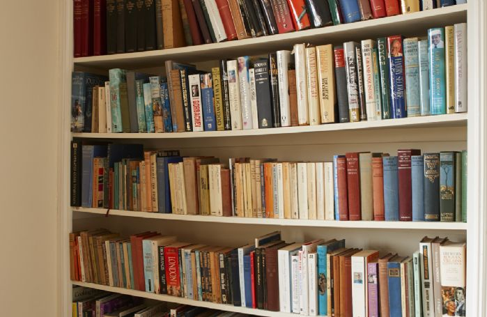 Guest are welcome to use the selection of books and ordnance survey maps are available
