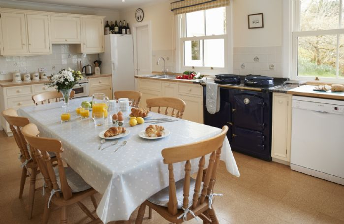 Ground floor: Kitchen with larder and breakfast table seating 4-6 people