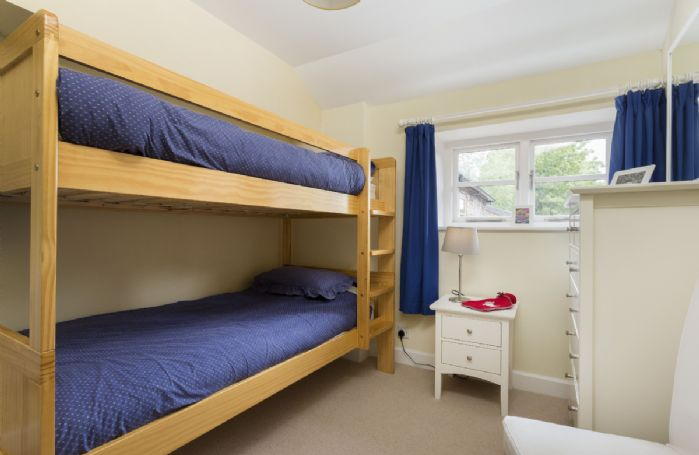 First floor:  Bedroom three with bunk beds, suitable for children