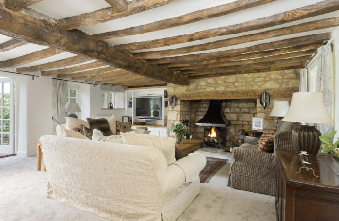 Ground floor: Beautifully proportioned sitting room with inglenook fireplace
