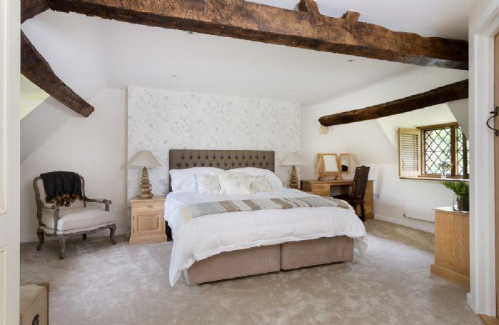First floor: Master bedroom with super king bed and en-suite shower room