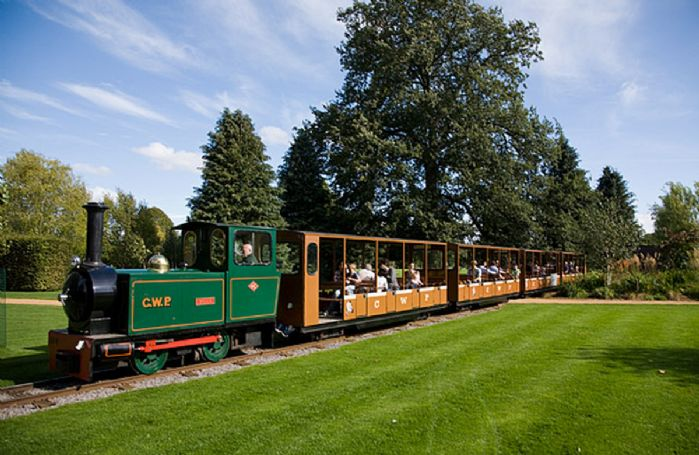 Take a train ride at Cotswold Wildlife Park