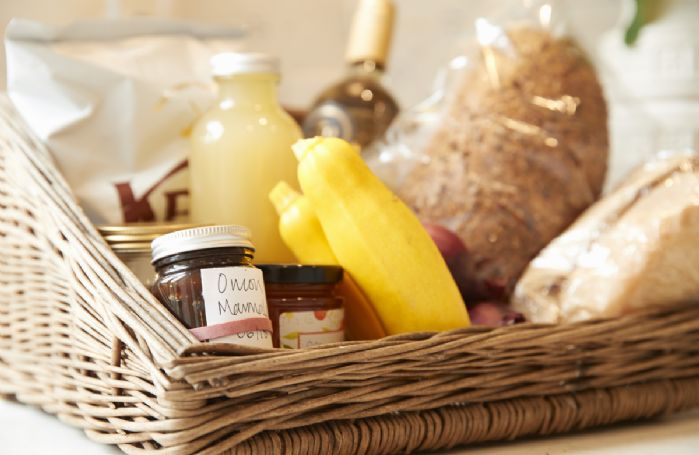 Enjoy the luxury hamper of local produce.