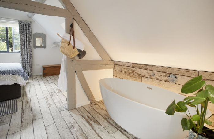 First floor:  Contemporary free standing bath.