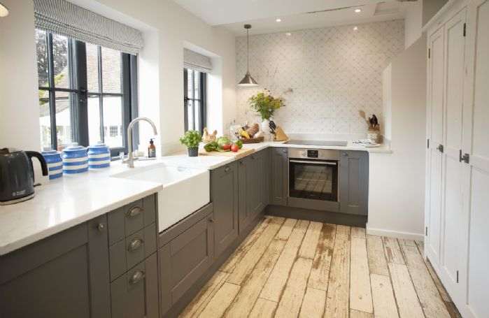 Ground floor:  Fully equipped kitchen with belfast sink.