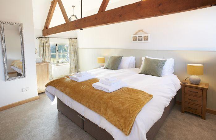 First floor:  Bedroom with 6' zip and link bed.