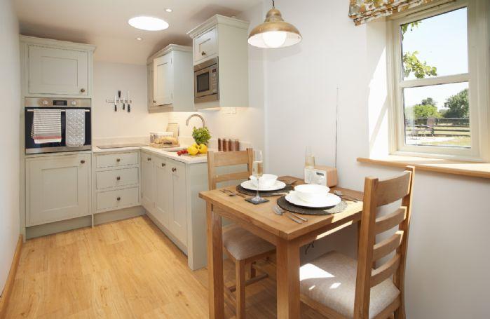 First floor:  Recently refurbished hand built kitchen.