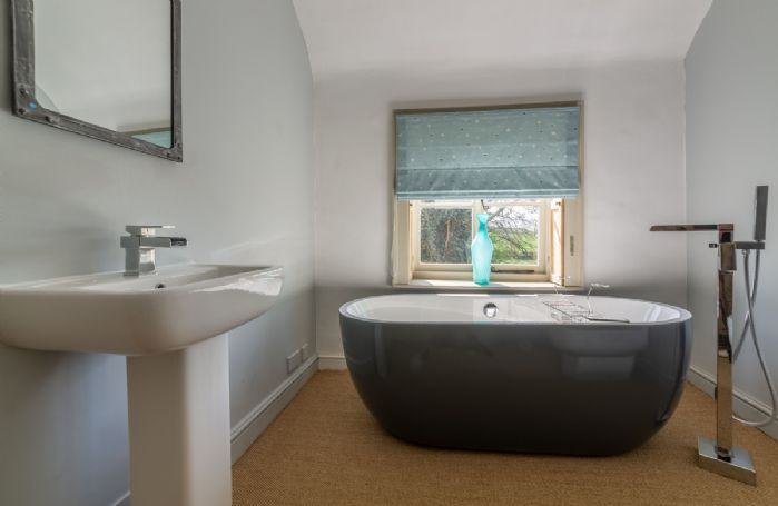 First floor:  Contemporary ensuite bathroom