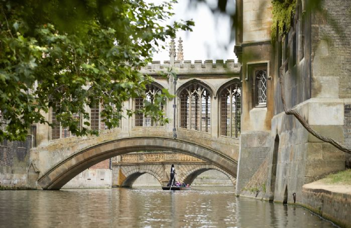 Cambridge is renowned for punting on the River Cam