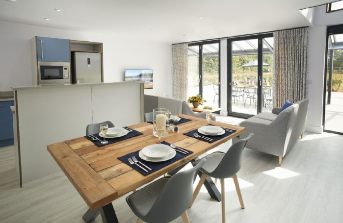 Ground floor:  Open plan kitchen, dining and living space
