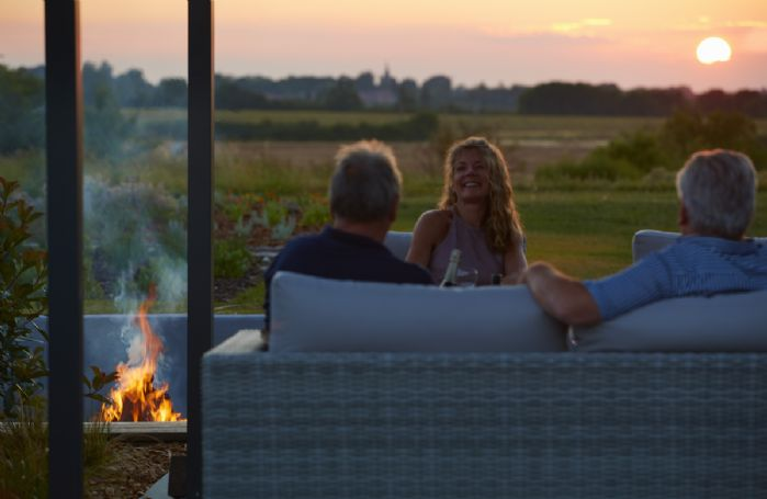 Light the fire pit, sit and relax whilst watching the sunset