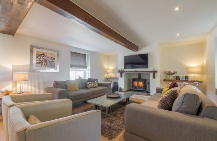 Ground floor:  Relax in sitting with log burning stove