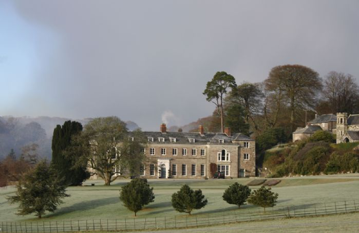 A cold winters day on a Cornish luxury retreat at Boconnoc House