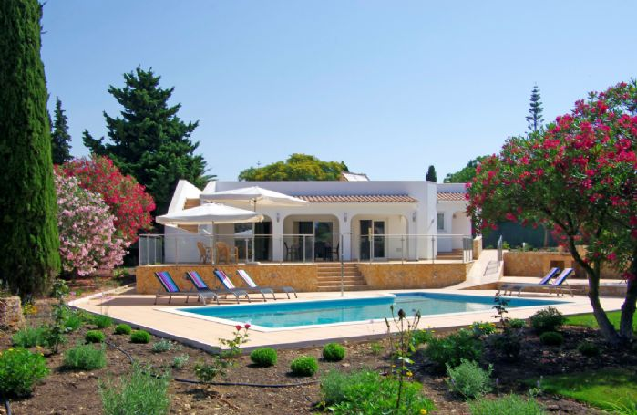 The villa has it's own private pool and a roof terrace